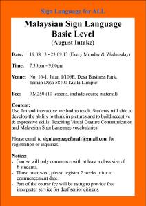 SL Course_August Intake (Mon & Wed)