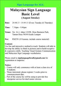SL Course_August Intake (Tue & Thurs)