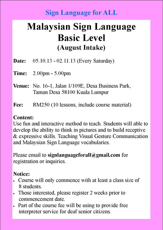SL Course_October Intake (Sat)
